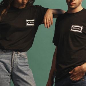 T-shirt z logiem Schron